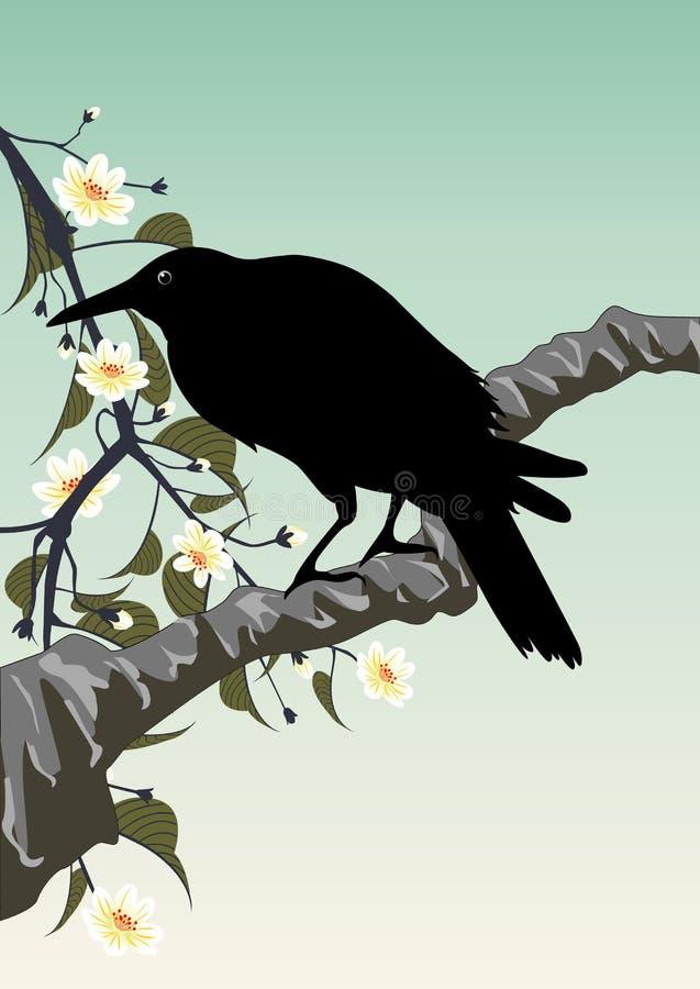Oiseau noir illustration stock