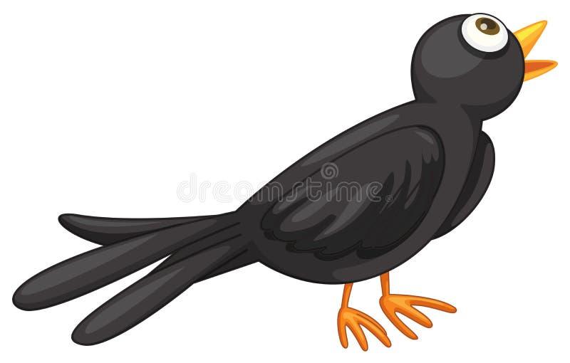 Oiseau noir illustration de vecteur