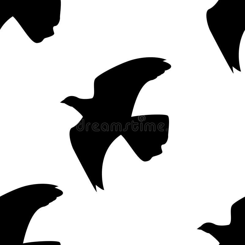Oiseau pattern01 illustration de vecteur