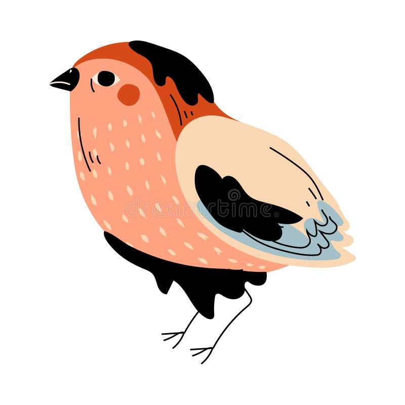Oiseau souillé avec le résidu pétrolier, illustration globale de vecteur de problème de pollution environnementale illustration libre de droits