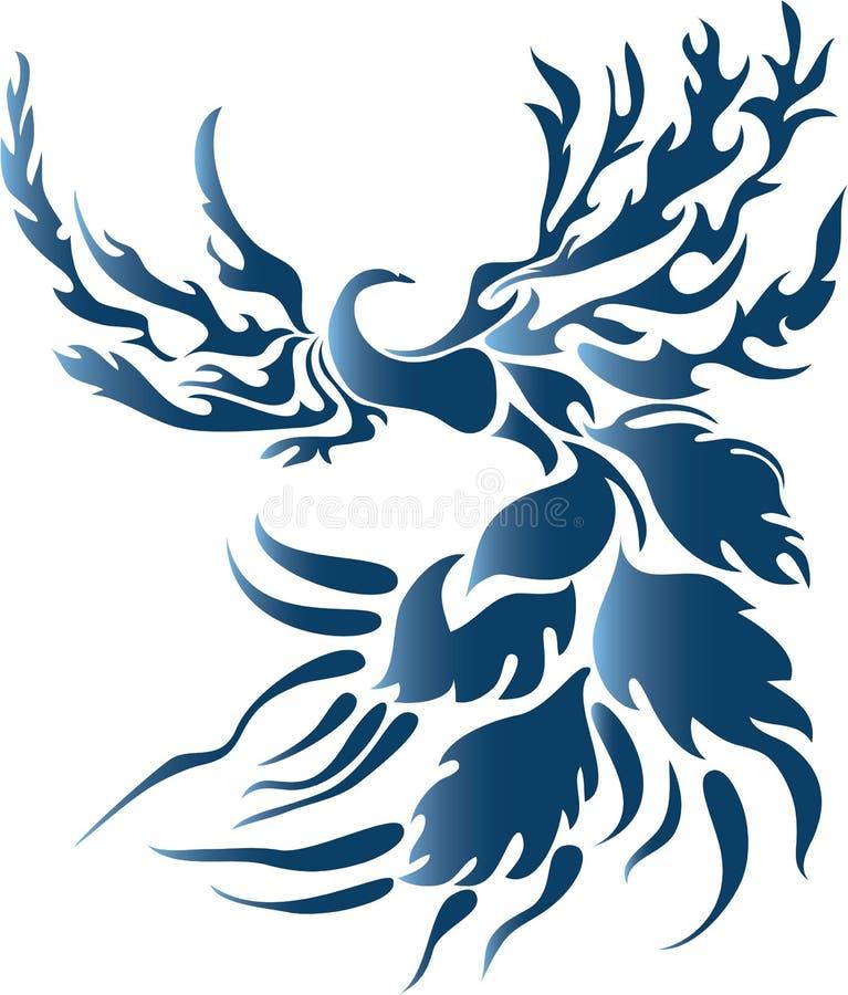 Oiseau stylisé d'imagination illustration stock