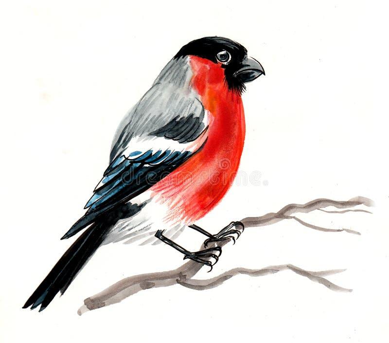 Oiseau sur un arbre illustration libre de droits