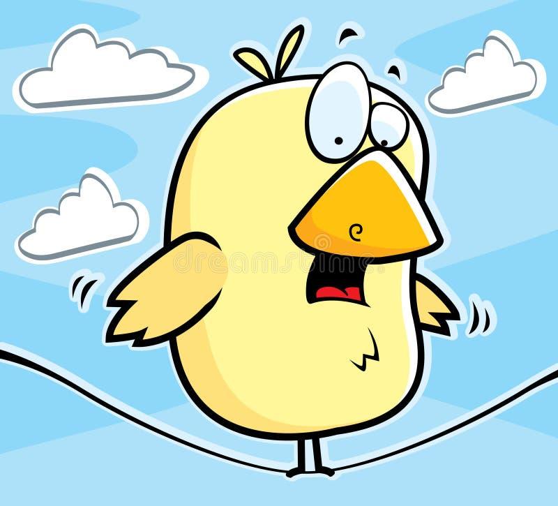 Oiseau sur un fil illustration libre de droits