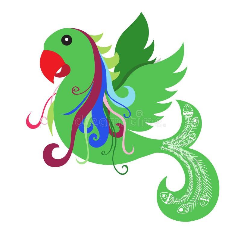Oiseau vert de perroquet images stock