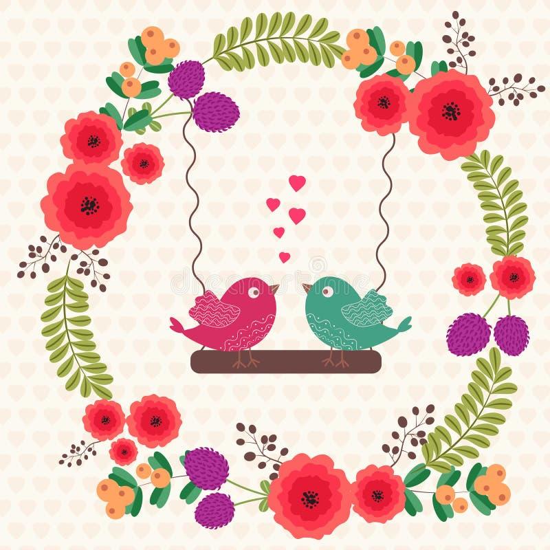Oiseaux affectueux illustration de vecteur