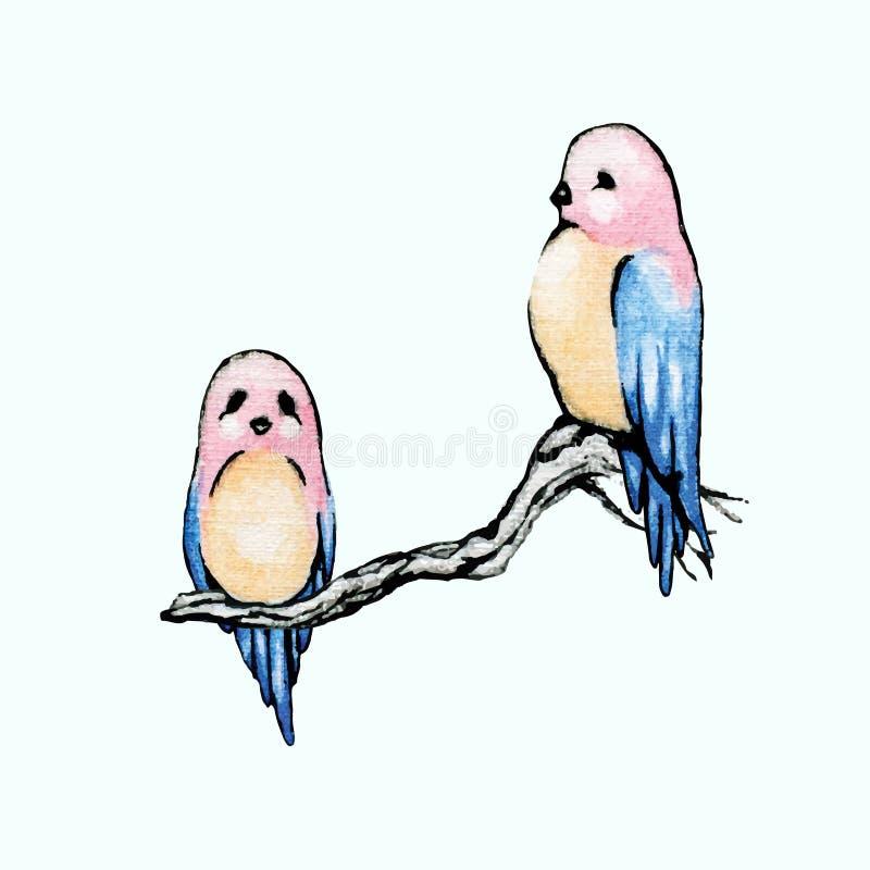 Oiseaux avec têtes roses illustration stock