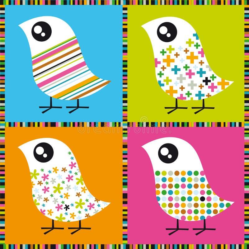 Oiseaux colorés illustration stock