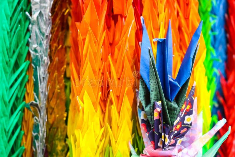 Oiseaux colorés d'Origami image libre de droits