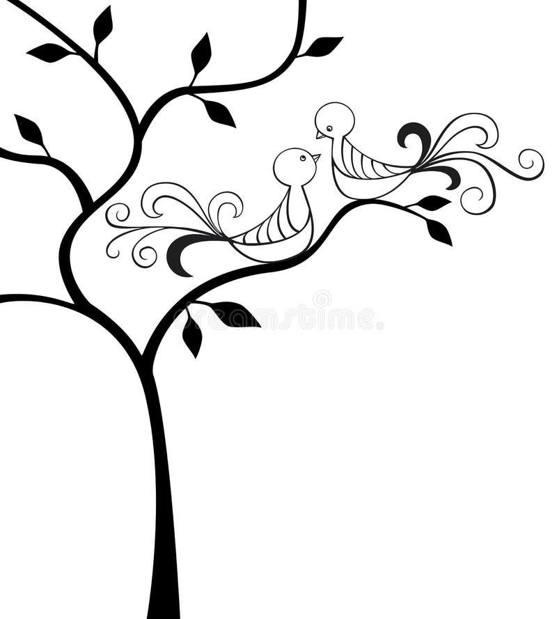 Oiseaux d'amour illustration de vecteur