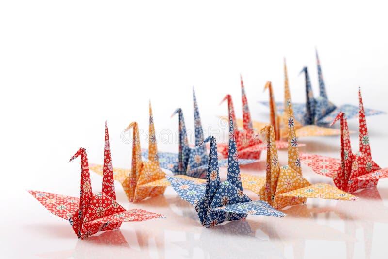 Oiseaux d'Origami image stock