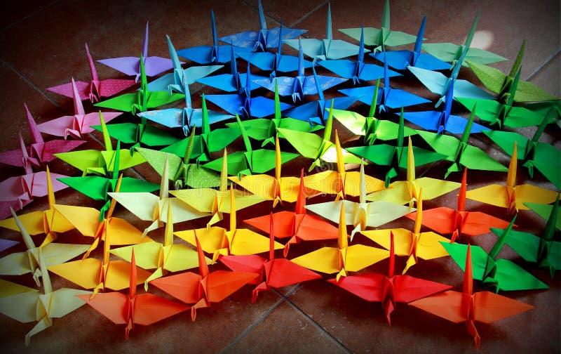 Oiseaux d'Origami photos stock