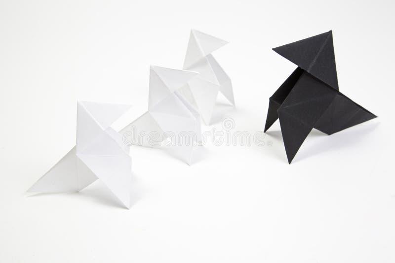 Oiseaux d'origami de groupe photos libres de droits