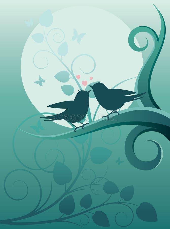 Oiseaux dans le jardin illustration stock