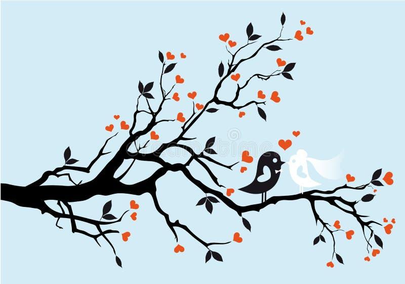 Oiseaux de mariage,   illustration stock
