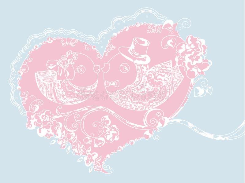 Oiseaux de mariage images libres de droits