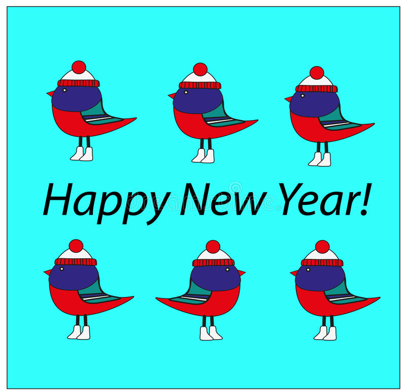 Oiseaux de Noël illustration libre de droits