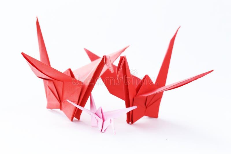Oiseaux de papier colorés d'origami images stock
