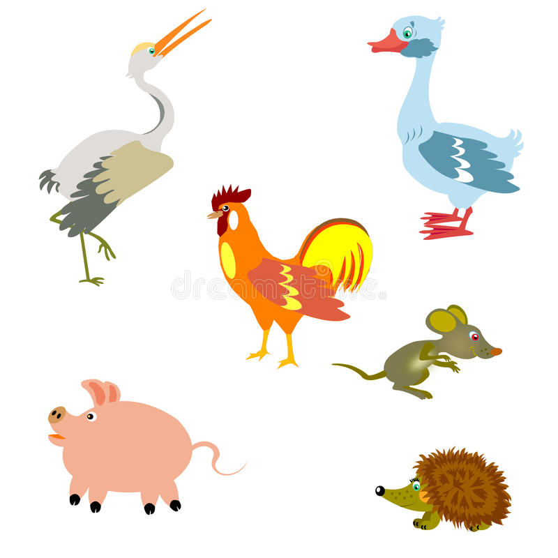 Oiseaux et d'autres animaux illustration libre de droits