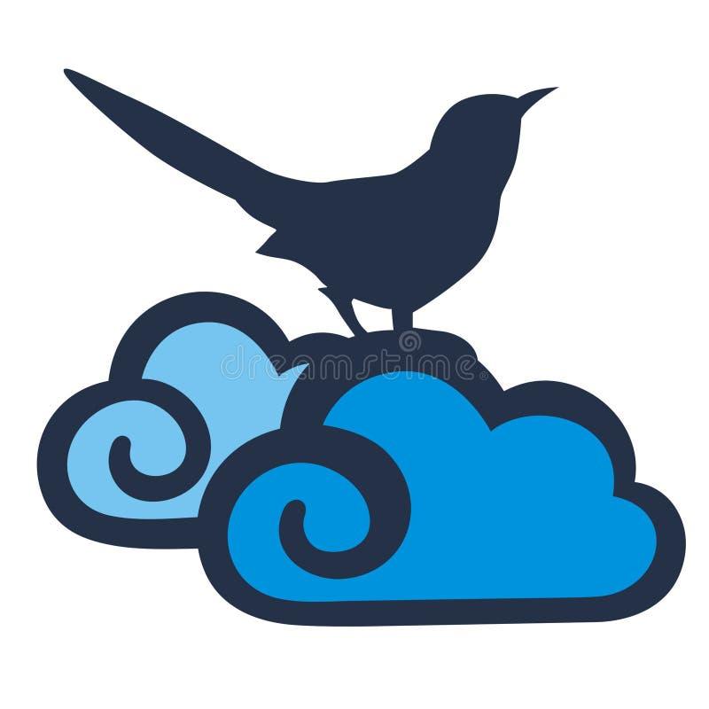 Oiseaux et nuages illustration stock