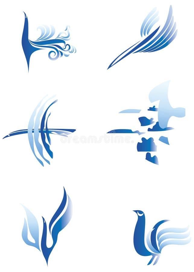 Oiseaux réglés illustration libre de droits