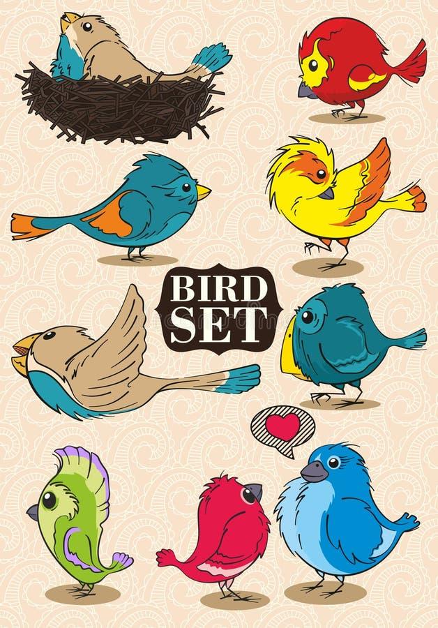 Download Oiseaux réglés illustration de vecteur. Illustration du coloré - 76075025