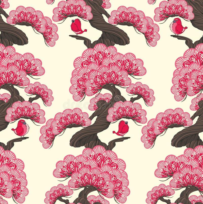 Download Oiseaux sur des arbres illustration de vecteur. Illustration du carte - 76075132