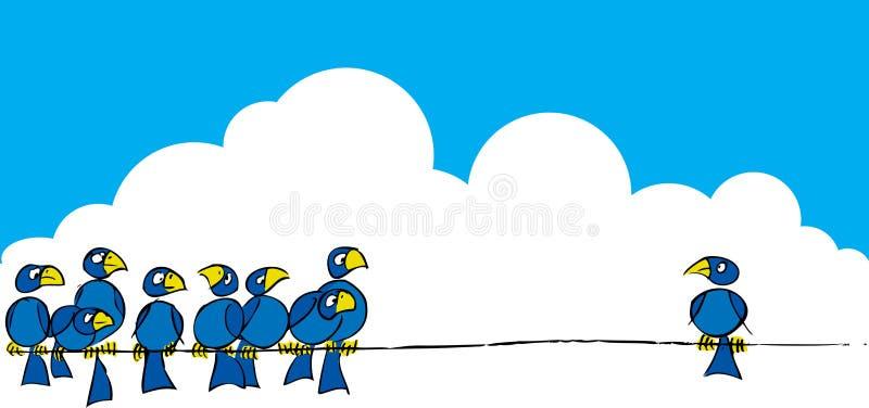 Oiseaux sur un fil #3 illustration libre de droits