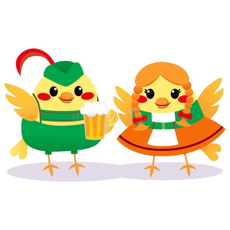 Oiseaux tyroliens traditionnels illustration stock