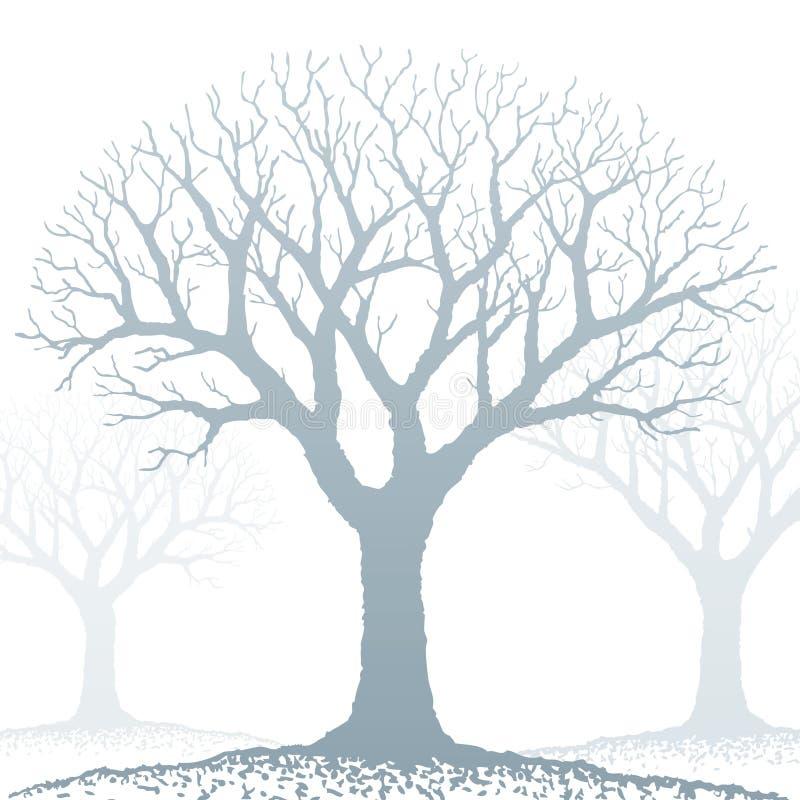 oisolerad treevektor royaltyfri illustrationer