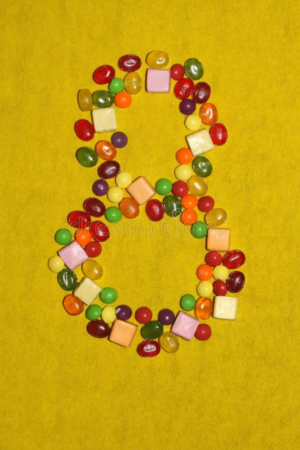 Oitavo março dos doces e dos doces, o antro das mulheres imagem de stock royalty free
