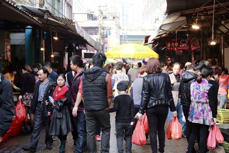 Oitavo mercado da cidade amoy, porcelana imagem de stock royalty free