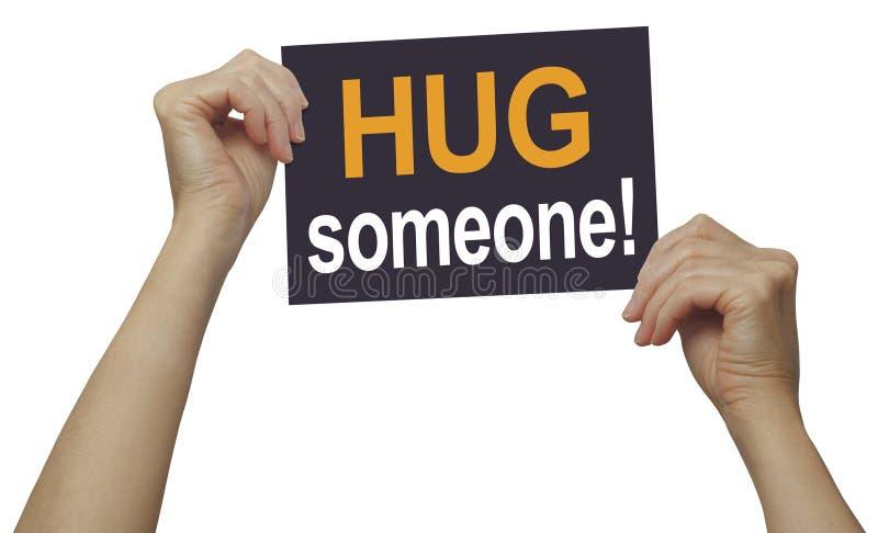Oito abraços um o dia mantêm o doutor Away - você está obtendo bastante? imagem de stock