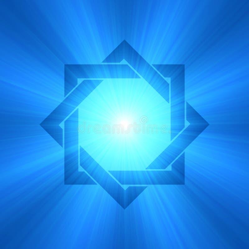 Oito apontaram o alargamento da luz do símbolo da estrela ilustração do vetor