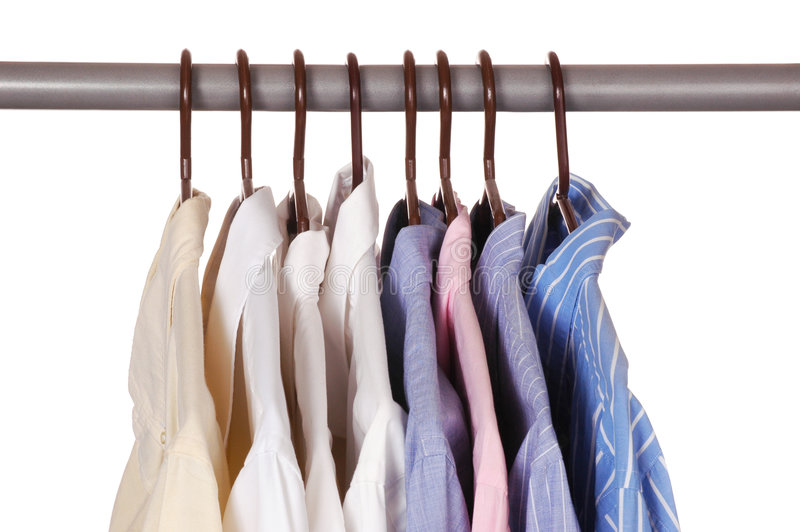 Oito camisas de vestido imagens de stock royalty free