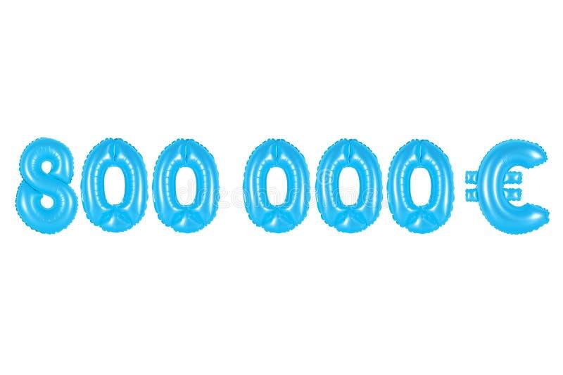 Oito cem mil euro, cor azul imagem de stock royalty free