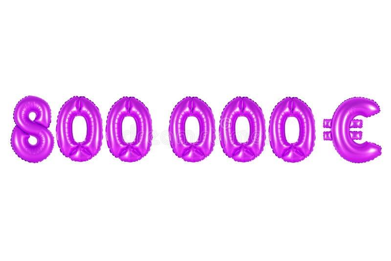 Oito cem mil euro, cor roxa fotos de stock