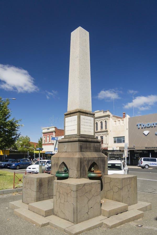 Oito horas trabalham o monumento, Ballarat, Austrália fotos de stock royalty free
