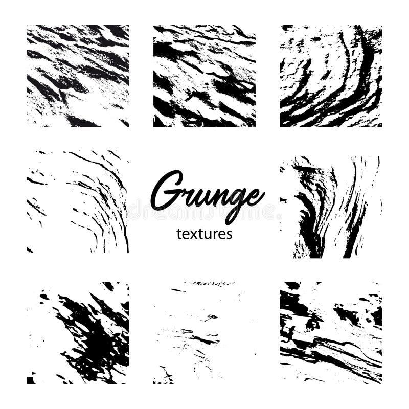 Oito texturas do Grunge ilustração royalty free