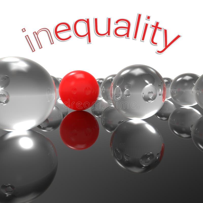 ojämlikhet vektor illustrationer