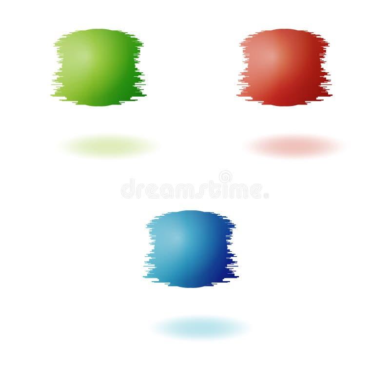 Ojämna bollar royaltyfri illustrationer