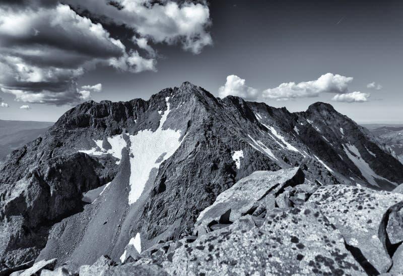 Ojämnt resväskamaximum San Juan Range, Colorado Rocky Mountains royaltyfria foton