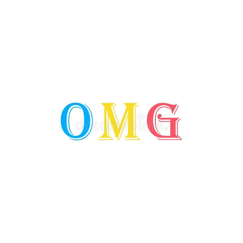 Oj min gud, uttrycksklistermärkesymbol Beståndsdel av fotoklistermärkesymbolen för mobila begrepps- och rengöringsdukapps Klister royaltyfri illustrationer