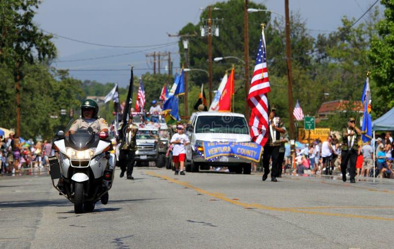 Ojai 4to del desfile 2010 de julio imagen de archivo