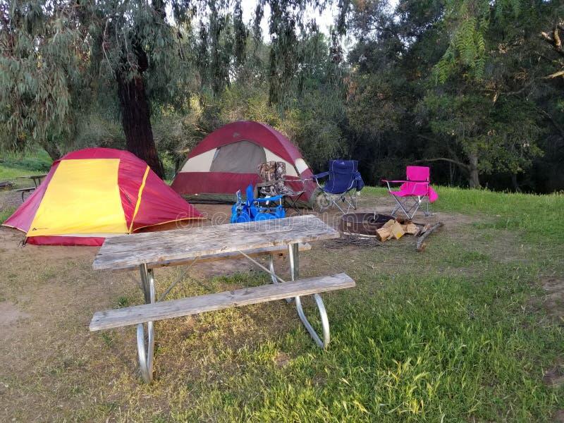 Ojai-Camping-Ausflug lizenzfreies stockfoto