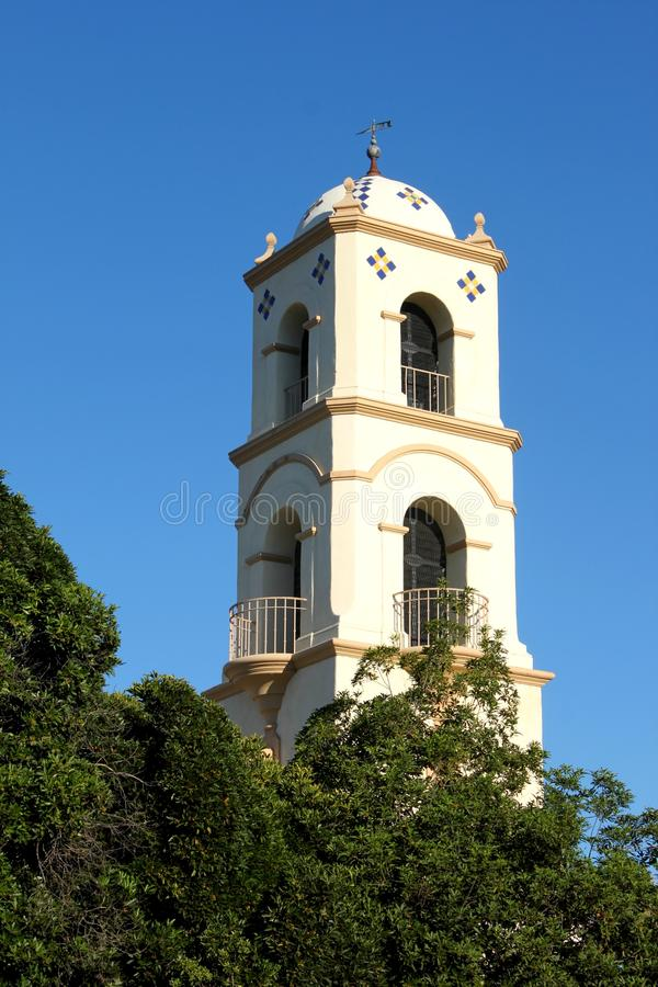 Ojai Post Office Tower. The Ojai post office tower in the middle of the city stock images