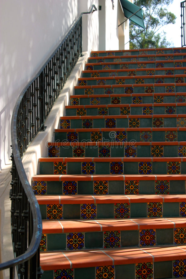 Download Ojai's Spanish Curves stock image. Image of mexico, stairs - 54487
