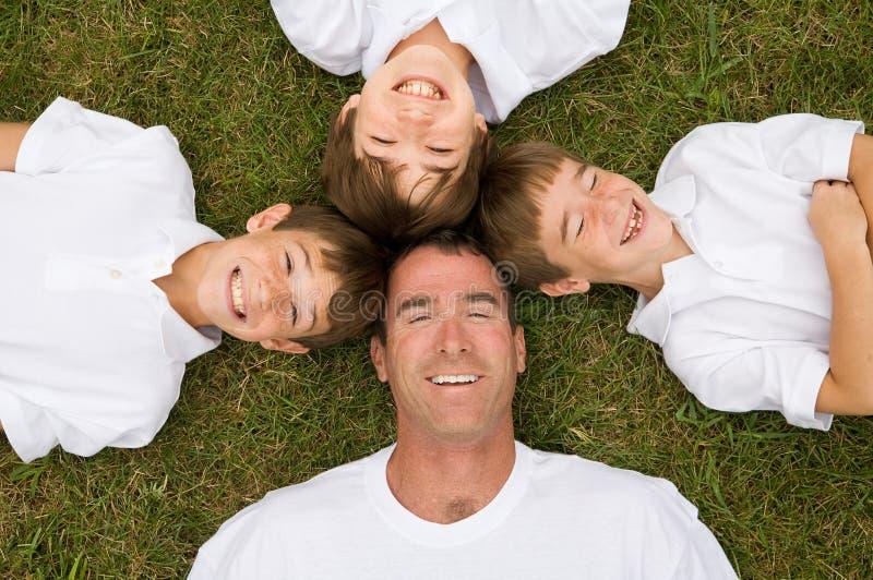 ojców synowie trzy obraz stock