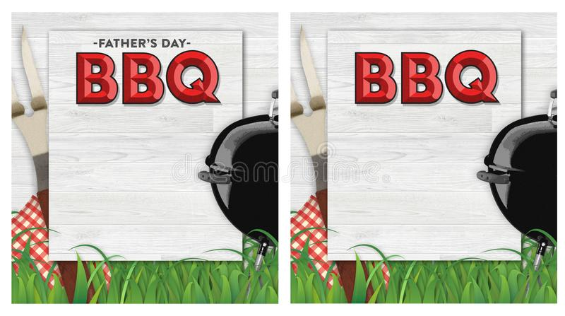 Ojca dnia BBQ zaproszenie royalty ilustracja