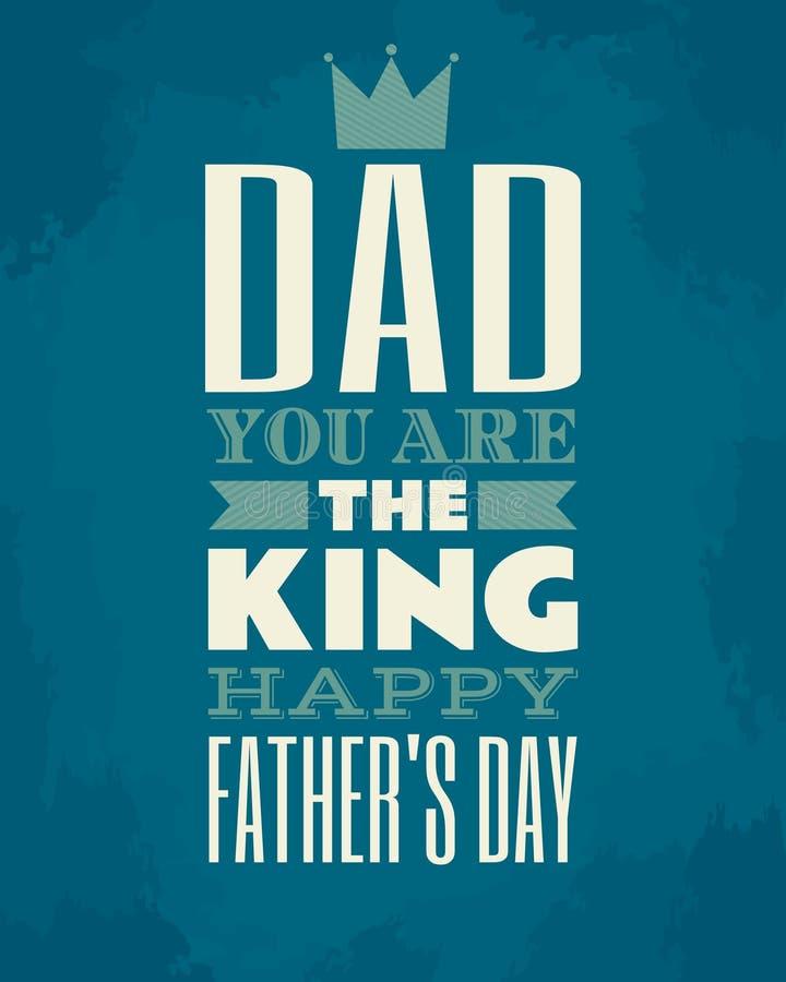 Ojca dnia karta royalty ilustracja