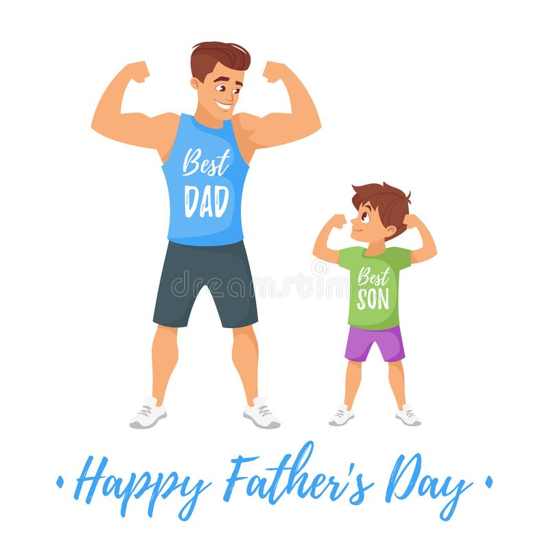 Ojca dnia kartka z pozdrowieniami szablon ilustracja wektor